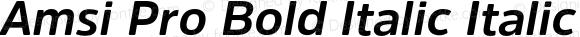 Amsi Pro Bold Italic Italic Version 1.40