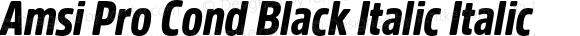 Amsi Pro Cond Black Italic Italic Version 1.40