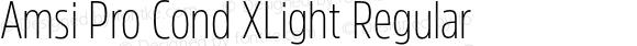Amsi Pro Cond XLight Regular Version 1.40
