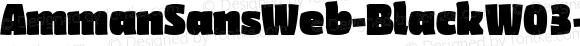 AmmanSansWeb-BlackW03-Rg Regular Version 7.504