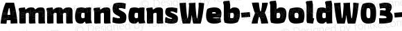 AmmanSansWeb-XboldW03-Rg Regular Version 7.504