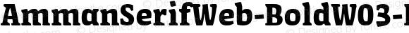 AmmanSerifWeb-BoldW03-Rg Regular Version 7.504