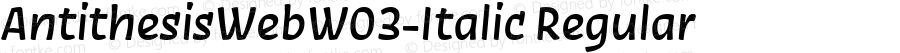 AntithesisWebW03-Italic Regular Version 7.504