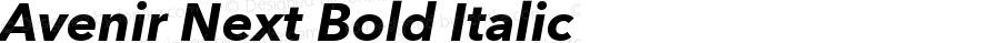 Avenir Next Bold Italic