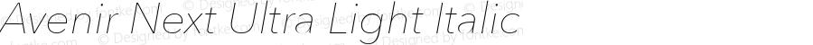 Avenir Next Ultra Light Italic