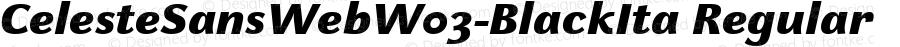 CelesteSansWebW03-BlackIta Regular Version 7.504