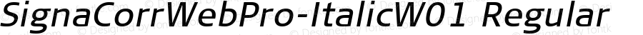 SignaCorrWebPro-ItalicW01 Regular Version 7.504