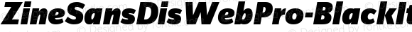 ZineSansDisWebPro-BlackItaW01 Regular Version 7.504