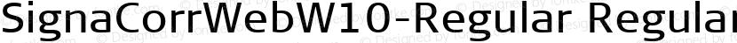 SignaCorrWebW10-Regular Regular Preview Image