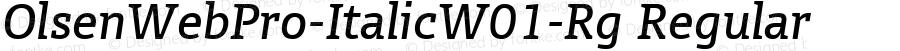 OlsenWebPro-ItalicW01-Rg Regular Version 7.504