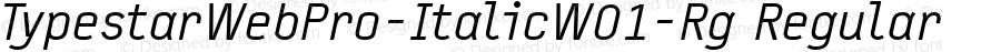 TypestarWebPro-ItalicW01-Rg Regular Version 7.504