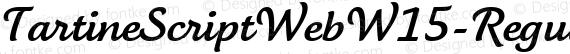 TartineScriptWebW15-Regular Regular preview image