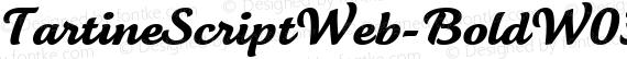 TartineScriptWeb-BoldW03-Rg Regular preview image