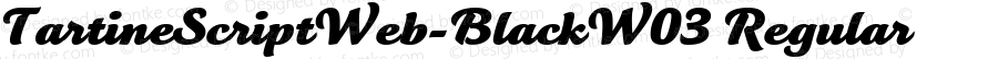 TartineScriptWeb-BlackW03 Regular Version 7.504