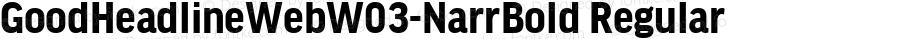 GoodHeadlineWebW03-NarrBold Regular Version 7.504
