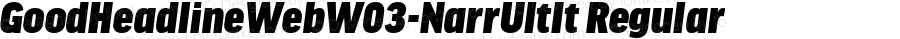 GoodHeadlineWebW03-NarrUltIt Regular Version 7.504