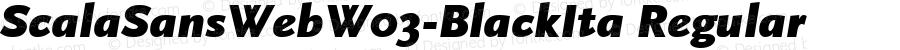 ScalaSansWebW03-BlackIta Regular Version 7.504