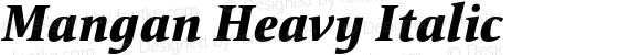 Mangan Heavy Italic