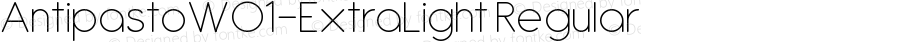 AntipastoW01-ExtraLight Regular Version 1.10