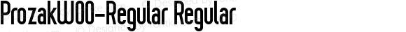 ProzakW00-Regular Regular Version 2.10