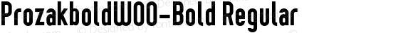 ProzakboldW00-Bold Regular Version 2.10