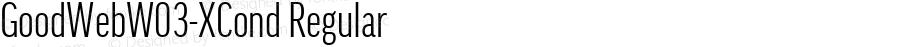 GoodWebW03-XCond Regular Version 7.504