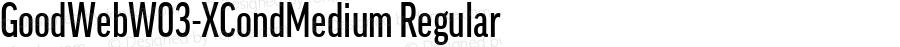 GoodWebW03-XCondMedium Regular Version 7.504