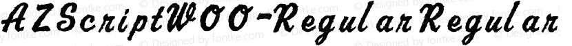 AZScriptW00-Regular Regular Preview Image