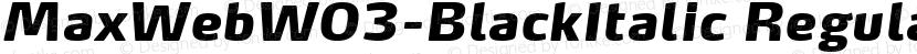 MaxWebW03-BlackItalic Regular Preview Image
