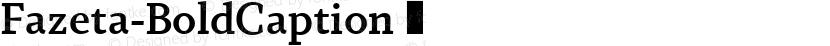Fazeta-BoldCaption ☞ Preview Image