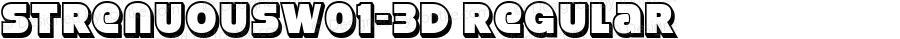 StrenuousW01-3D Regular Version 4.00