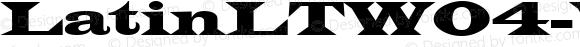 LatinLTW04-Wide Regular Version 1.00