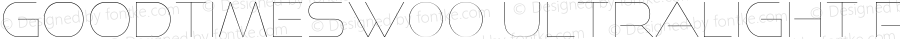GoodTimesW00-UltraLight Regular Version 4.00