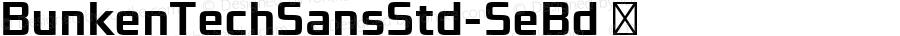 BunkenTechSansStd-SeBd ☞ Version : 1.042;com.myfonts.easy.buntype.bunken-tech-sans-pro.std-semibold.wfkit2.version.4hFt