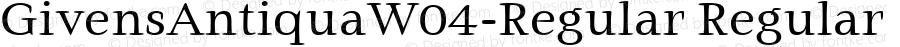 GivensAntiquaW04-Regular Regular Version 1.00