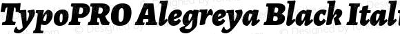 TypoPRO Alegreya Black Italic