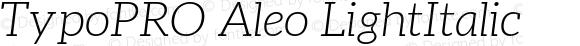 TypoPRO Aleo LightItalic