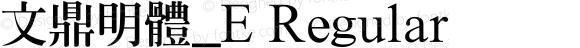 文鼎明體_E Regular Version 1.00