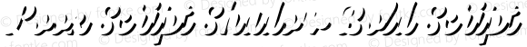 Look Script Shadow Bold Script Bold Version 1.000;PS 001.001;hotconv 1.0.56