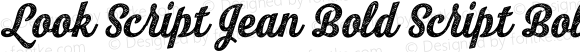 Look Script Jean Bold Script Bold Version 1.000;PS 001.001;hotconv 1.0.56