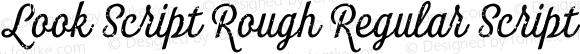 Look Script Rough Regular Script Regular Version 1.000;PS 001.001;hotconv 1.0.56