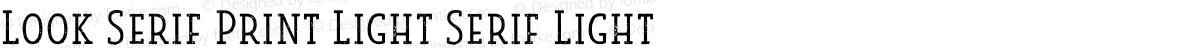 Look Serif Print Light Serif Light