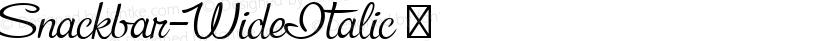 Snackbar-WideItalic ☞ Preview Image