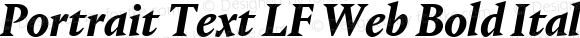Portrait Text LF Web Bold Italic