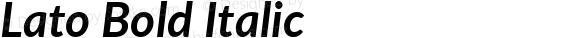Lato Bold Italic