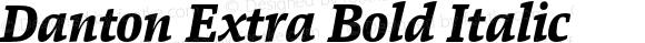 Danton Extra Bold Italic