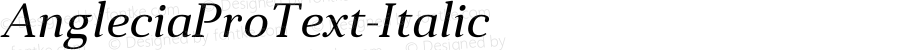 AngleciaProText-Italic ☞ Version 001.000;com.myfonts.easy.konstantynov.anglecia-pro.text-italic.wfkit2.version.47MF