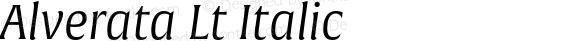 Alverata Lt Italic Version 1.001