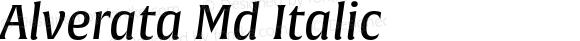 Alverata Md Italic Version 1.001