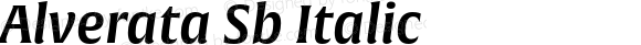 Alverata Sb Italic Version 1.001